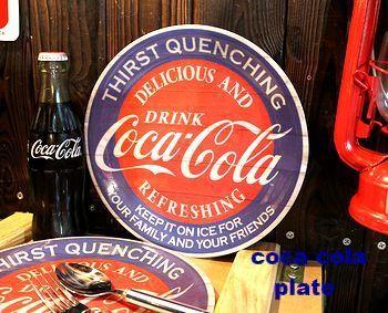 コカ・コーラメラミンプレート コーラ皿  アメリカ雑貨屋 SUNBRIDGE 岩手矢巾雑貨
