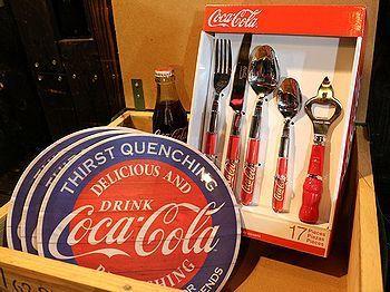コカ・コーラメラミンプレート コーラカトラリーセット  アメリカ雑貨屋 SUNBRIDGE 岩手矢巾雑貨