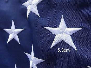 刺繍星条旗 USAフラッグ  アメリカ雑貨屋 サンブリッヂ SUNBRIDGE 岩手矢巾町