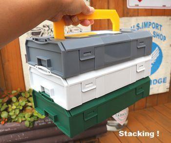 ダルトンセクションボックス プラスチック工具箱 スタッキング工具箱 アメリカ雑貨屋 サンブリッヂ  岩手雑貨屋 矢巾町