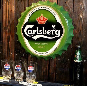 カールスバーグ看板 栓看板 アメリカ雑貨屋 サンブリッヂ SUNBRIDGE 岩手雑貨屋 アメリカ雑貨通販