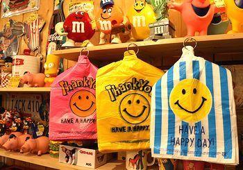 スマイルビニール袋 スマイル袋 アメリカゴミ袋 アメリカ雑貨屋 サンブリッヂ SUNBRIDGE 岩手雑貨屋 アメリカ雑貨通販