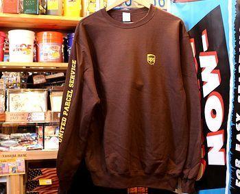 UPSスウェット  UPSトレーナー アメリカスウェット アメリカ雑貨屋 サンブリッヂ SUNBRIDGE 岩手雑貨屋 アメリカ雑貨通販