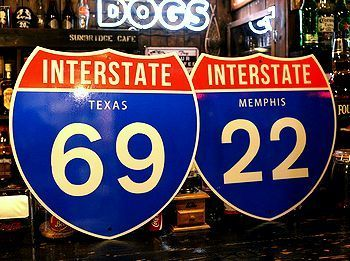 ハイウェイ看板 テキサス看板 アメリカ道路看板 アメリカ雑貨屋 サンブリッヂ SUNBRIDGE 岩手雑貨屋 アメリカ雑貨通販