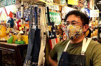 ガーゼマスク 布マスク 手作りマスク アメリカ雑貨屋 サンブリッヂ SUNBRIDGE 岩手雑貨屋 アメリカ雑貨通販