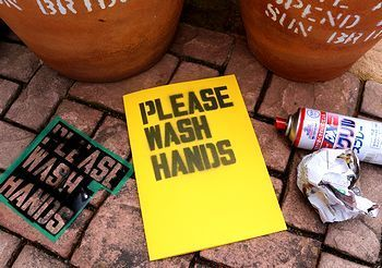 手洗い看板 手洗いステンシル  アメリカ雑貨屋 サンブリッヂ SUNBRIDGE 岩手雑貨屋 アメリカ雑貨通販