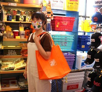ホームデポエコバッグ アメリカエコバッグ アメリカ雑貨屋 サンブリッヂ SUNBRIDGE 岩手雑貨屋 アメリカ雑貨通販 布マスク販売店