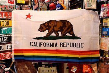 カリフォルニアフラッグレインボー カリフォルニア旗 アメリカ雑貨屋 サンブリッヂ SUNBRIDGE 岩手雑貨屋 アメリカ雑貨通販 布マスク販売店