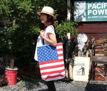 アメリカエコバッグ カリフォルニアエコバッグ アメリカ雑貨屋 サンブリッヂ サンブリッジ 岩手雑貨屋 アメリカ雑貨通販