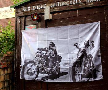 イージーライダータペストリー 映画タペストリー ハーレーフラッグ アメリカ雑貨屋 SUNBRIDGE 岩手矢巾