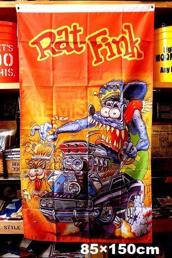 ラットフィンクフラッグ  RATFINK 旗 アメリカ雑貨屋 サンブリッヂ サンブリッジ 岩手雑貨屋 アメリカ雑貨通販 矢巾町