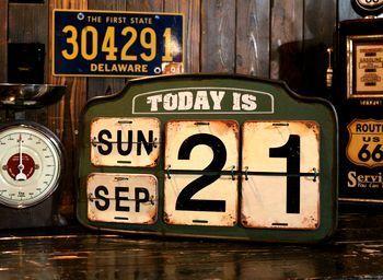 ダルトンカレンダー 日めくりカレンダー 万年カレンダー アメリカ雑貨屋 サンブリッヂ サンブリッジ 岩手雑貨屋 アメリカ雑貨通販 矢巾町