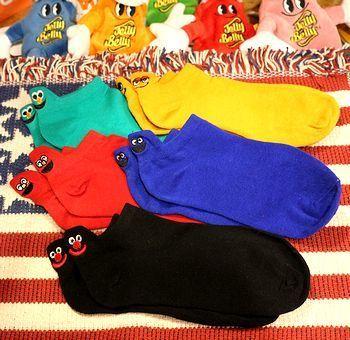 セサミストリート靴下 セサミ くるぶしソックス アメリカ雑貨屋 サンブリッヂ SUNBRIDGE 岩手雑貨屋 アメリカ雑貨通販