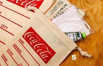 コーラ 巾着袋  アメリカン着替え入れ アメリカ雑貨屋 アメリカン雑貨 サンブリッヂ 岩手雑貨屋 通販 矢巾町