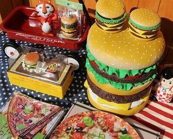 ハンバーガー コンテナ 小物入れ 飴ケース アメリカ雑貨屋 アメリカン雑貨 サンブリッヂ 岩手雑貨屋 通販 矢巾町