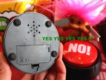 イエスノーサウンドボタン 早押しブザーボタン パーティーグッズ アメリカ雑貨屋 アメリカン雑貨 サンブリッヂ 岩手雑貨屋 通販 矢巾町