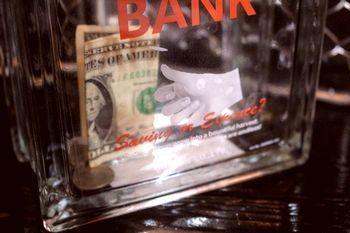 ガラスブロックバンク ダルトン 貯金箱 ガラス アメリカ雑貨屋 アメリカ雑貨 通販 サンブリッヂ 岩手 雑貨屋 矢巾町
