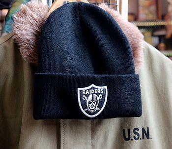 NFLレイダーズニット帽 俺の家の話アメフト服  アメフト帽子 アメリカ雑貨屋 アメリカン雑貨 サンブリッヂ 岩手雑貨屋 通販 矢巾町