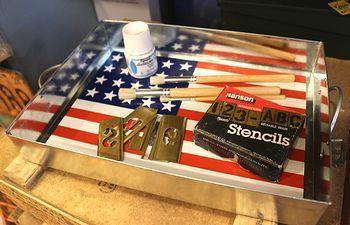 アメリカスチールトレイ 星条旗おぼん アメリカ工具作業トレー アメリカ雑貨屋 アメリカ雑貨 通販 サンブリッヂ 岩手 雑貨屋 矢巾町