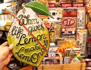 レモネード看板 レモン看板 カフェ看板 アメリカ雑貨屋 アメリカ雑貨 通販 サンブリッヂ 岩手 雑貨屋 矢巾町