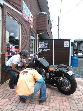 岩手雑貨屋 SUNBRIDGE ブログ通販 バイク スティードがサンブリッヂに納車しました♪