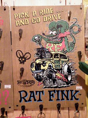 アメリカ雑貨 通販 岩手 サンブリッヂ 商品紹介 RAT FINK★キーフックボード