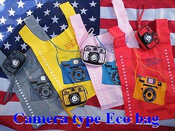 カメラ型エコバッグ カメラ ポーチ エコバッグ おしゃれ 行楽 アメリカ雑貨屋サンブリッヂ