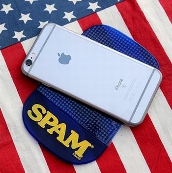スパムダッシュボードマット SPAM アメリカ雑貨屋 サンブリッヂ SUNBRIDGE 岩手雑貨屋