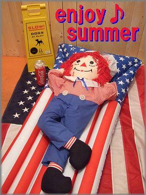 アメリカ雑貨屋 さんぶりっぢ 商品ブログ エアーマット星条旗柄
